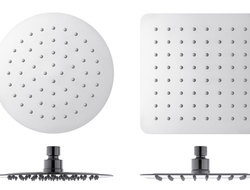 These shower heads are manufactured using thin steel sheets which are placed one on top of another.