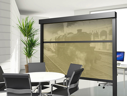 . Created of sound-reducing, nanotech material, Tudelü wall panels turn open spaces into multi-use rooms.