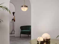 Designed by Michael Verheyden, the collection was inspired by Parisian brasseries and snow domes.