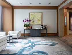 Rockwell Group enhances Four Seasons Hotel Miami's function spaces with mid-century modern décor.