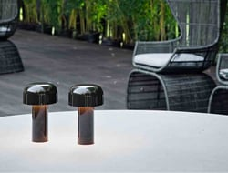 Bellhop is a battery-powered piece designed for Flos by Edward Barber & Jay Osgerby.
