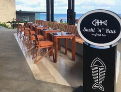Sordo Madaleno designs new Sushi 'n' Raw Seafood bar and restaurant in Grand Hyatt Playa del Carmen.