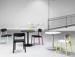 Designed by Julia Laufer and Marcus Keichel for Lammhults, each chair features a seat and seat back made of polypropylene that can work both indoors or outdoors.