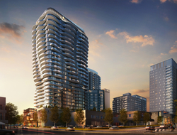 Weber Thompson, HBA collaborate for Fortress Development's two-tower Avenue Bellevue condo, hotel and retail project.