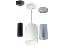 Nora iLENE LED mini cylinder is a luminaire that can be surface mounted or installed as a cable pendant.