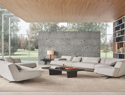 Poliform launched the Sydney collection, taking its name from the city in Australia and designed by Jean-Marie Massaud.