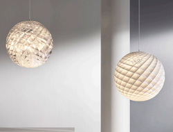 Louis Poulsen launched designer Øivind Slaatto's Patera in a new silver foil material.