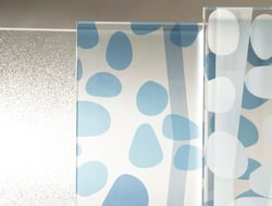 CAMAflage glass is a surface solution that allows venues to specify the degree of transparency.