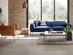Blustyle launched the Yosemite collection of porcelain tiles, featuring the earthy tones and faceted veining of natural rock.