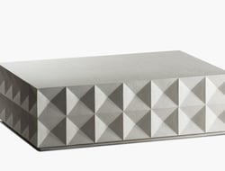 San Diego-based Stone Yard Inc introduced a new geometric cocktail table, designed by founder and lead designer Mitch Brean.