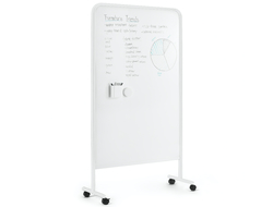 Poppin launched the Goal Dry Erase Board, a standing, moving and grooving dry erase board that has two sides of dry erase surface.