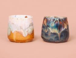 Nanushka and Noha Studio collaborated to launch the Nanoha ceramics created by Sandra Sandor and Natalia Nemes.
