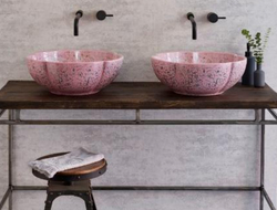 Each basin is hand-finished and generously sized, with dimensions in the collection running between 39.7cm and 45cm in diameter, and 14cm to 16.2cm in height.