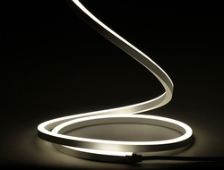 """Available in a horizontal bend or a vertical bend, FLXible Neon provides a slim profile with a 3.8W/FT """"Spot Free"""" appearance."""