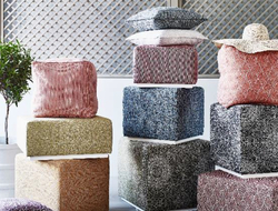 Unlike traditional waterproof outdoor fabrics, the new Al Fresco collection is soft to the touch and is, therefore, comfortable to sit or lie on.