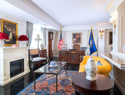 Terri Jannes Interiors designs 'Veep' suite of Hamilton Hotel Washington, D.C.