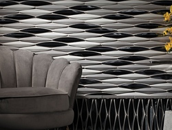 Named after the Japanese word for canoe, the Ka-nū ceramic tile collection comprises three architecturally dimensional surfaces.