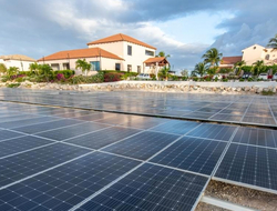 Frangipani Beach Resort goes green with new solar energy system.