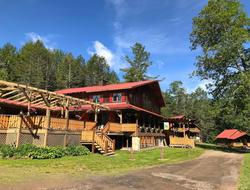 The exterior of the Alpine Inn