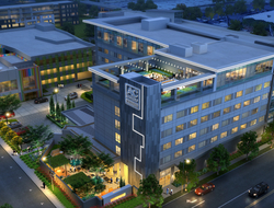 Aviation-inspired AC Hotel Los Angeles South Bay nears completion.