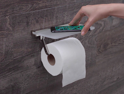 Besides holding sanitary paper, Dezi Home's holders do double duty by offering a sanitary place to put smartphones and other small items when in the bathroom.