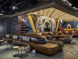 A sitting area at Moxy Atlanta Midtown