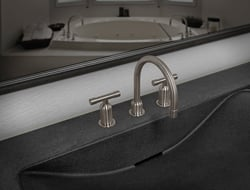 Offered in a variety of styles, along with independent controls, the WherEver faucets are a widespread version of the WaterBridge collection.