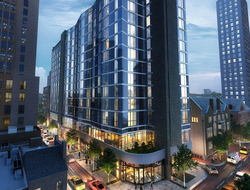 First Hyatt Centric hotel tops out in Philadelphia.