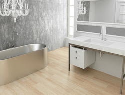Constructed of heavy-gauge, type 304 stainless steel, the Neo tub is available in two sizes.