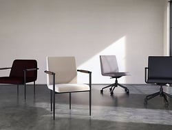 Designed by Scandinavian company Space Copenhagen, the collection was inspired by 1960's modernism, with the designers working with a simple, masculine, industrial expression.