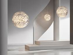 Øivind Slaatto's Patera (which was first launched in 2015) was relaunched in a silver version. The design is intended to be a modern take on the classic chandelier.