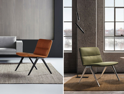 The seat sits wider and slightly lower than the multipurpose A-Chair, relaxing the user and creating a more comfortable seating experience.
