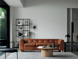 The CB2 x GQ collection features a mix of furniture and accessories that give nod to classic, mid-century modern design with industrial touches.