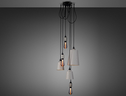 Hooked gives the stylist the ability to play with the heights of each pendant.