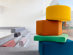 Acton fabric has a dry matte finish and comes in an array of 39 colors, with options ranging from neutrals to bright hues of yellow, orange, red, turquoise and different shades of green.