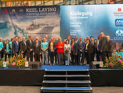 Crystal Endeavor Keel Laying Ceremony