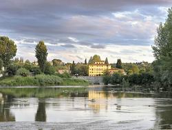 View of Villa La Massa from the Arno River