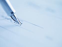Tip of Fountain Pen Writing