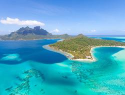 Aerial view of Tahiti