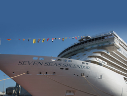 Image of the bow of the Seven Seas Splendor