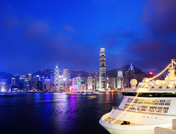 cruise ship in Hong Kong