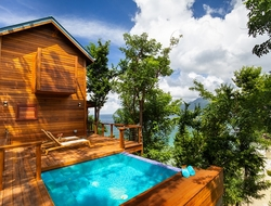 Ti-Fey Villa, Secret Bay, Dominica. Photo by Secret Bay. Editorial Use Only