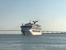 Carnival Sunshine's Arrival in Charleston