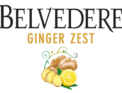 Belvedere Vodka Ginger Zest label illustration