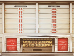 Front of vintage jukebox
