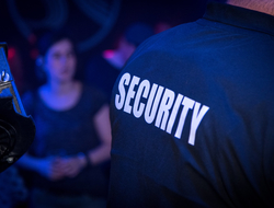 Back of security in nightclub