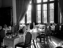 Fine dining black and white restaurant