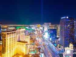 Las Vegas skyline facing south
