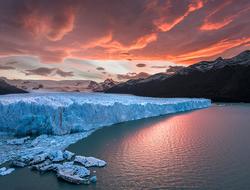 Antarctica at sunset