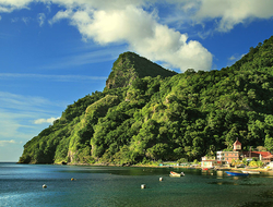 View of Soufriere village, Dominica